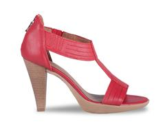 FROGGIE RED T-BAR HIGH HEELED SANDAL- 10729
