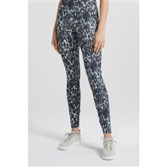 YAYA SAGE LEOPARD STRETCH LEGGING WITH LARGE WAISTBAND