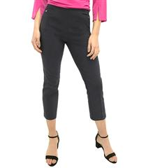 JOLIE CHARCOAL 3/4-LENGTH STRETCH PANTS