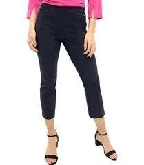 JOLIE NAVY 3/4-LENGTH STRETCH PANTS