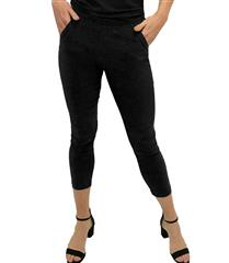 JOLIE BLACK ANKLE GRAZER PANTS