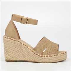 MISS BLACK- TAUPE MADDEN ESPADRILLE WEDGE