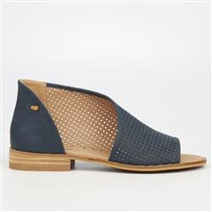 MISS BLACK MICAH2 CUT OUT SLIP ON - NAVY