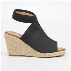 BUTTERFLY FEET BLACK DRAYCO ESPADRILLE WEDGE