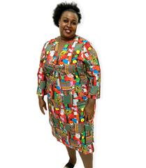 JOLIE AFRICAN PRINT MAUREEN DRESS