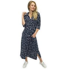 JOLIE BLUE WHITE LAUREN SHIRT DRESS