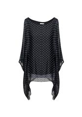 MADE IN ITALY POLKA TOP - BLACK
