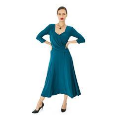 HIP HOP TEAL CROSS OVER VALA DRESS