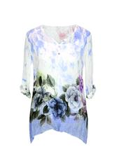 MADE IN ITALY BLOUSE - BLUWHT