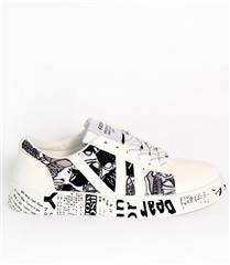 JOLIE WHITE MULTI GRAFFITI SNEAKERS