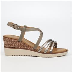 BUTTERFLY FEET GREY BELLAIR SANDAL WEDGE