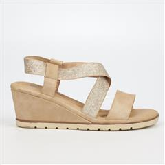 BUTTERFLY FEET BEIGE YASHEEL WEDGE