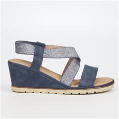 BUTTERFLY FEET NAVY YASHEEL WEDGE