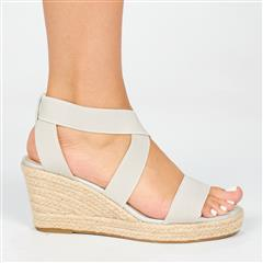 BUTTERFLY FEET GREY QUANTOM ESPADRILLE WEDGE