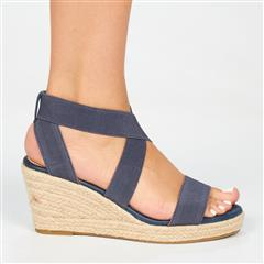 BUTTERFLY FEET NAVY QUANTOM ESPADRILLE WEDGE