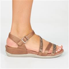 BUTTERFLY FEET BROWN OLLIE2 SANDAL