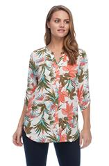 FRENCH DRESSING JEANS TROPICAL PRINT BLOUSE