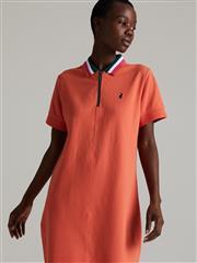 POLO ORANGE MANDY ZIP STRETCH GOLFER DRESS
