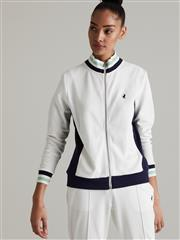 POLO WHITE ARIEL COLOUR BLOCKED TRACK JACKET