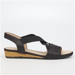BUTTERFLY FEET BLACK ZAIDEEN SANDAL