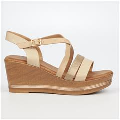 BUTTERFLY FEET BEIGE SYREEN WEDGE