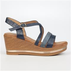 BUTTERFLY FEET NAVY SYREEN WEDGE