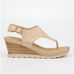 BUTTERFLY FEET BEIGE PARAMONT WEDGE