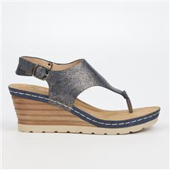 BUTTERFLY FEET NAVY PARAMONT WEDGE