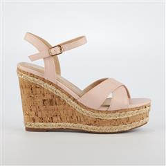 MISS BLACK- NUDE DIOXY WEDGE