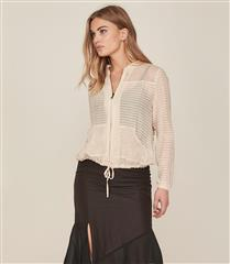 NU CHAMPAGNE DAWN JACKET WITH FRINGE