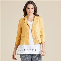 GORDON SMITH GOLD DANIELLE LINEN BLAZER