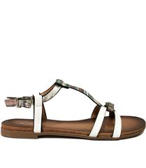 JOLIE WHITE BUCKLE DETAIL SANDAL
