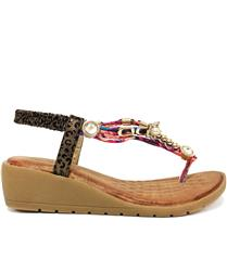 JOLIE BRONZE EMBELLISHMENT DETAIL SANDAL WEDGE