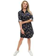 JOLIE NAVY FLAMINGO ANNIE SHIRT DRESS