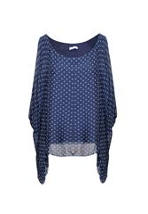 MADE IN ITALY POLKA TOP - NAVY