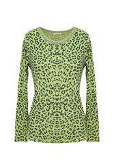 MADE IN ITALY ANIMAL PRINT TOP - LIME