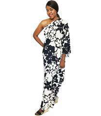 JOLIE BAM BAM NAVY WHITE OFF SHOULDER DRESS