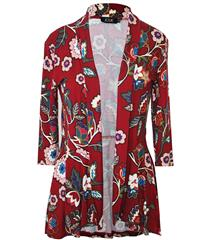 JOLIE MAROON FLORAL 3-4 SLEEVE REGAL JACKET