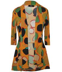 JOLIE MUSTARD PRINT 3-4 SLEEVE REGAL JACKET