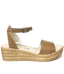 PHELAN DRIFTWOOD WEDGE SANDAL WITH ANKLE STRAP