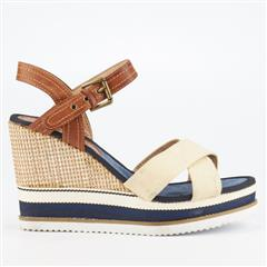 MISS BLACK- NUDE THANDO WEDGE