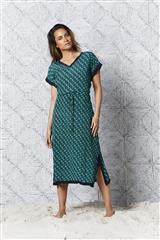 ONESEASON PEACOCK MONTEREY SAMI KAFTAN DRESS