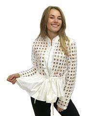 JOLIE WHITE PUNCHED JACKET