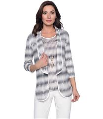 FRANK LYMAN VANILLA GREY KNIT JACKET