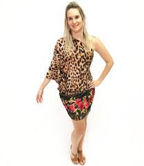 JOLIE BAM BAM LEOPARD OFF SHOULDER SHORT DRESS