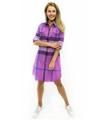 JOLIE ANNIE PURPLE CHECK SHIRT DRESS