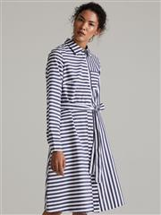 POLO BRIDGET LONG SLEEVED STRIPE SHIRT DRESS