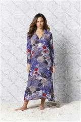 ONE SEASON COBALT BORA LONG IRIS KAFTAN DRESS