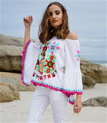 RYY WHITE MULTI HOLA TOP