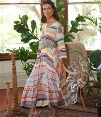 RYY MULTICOLOUR KABUL MAXI DRESS